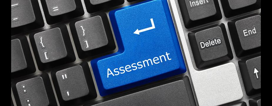 Assessment key on keyboard